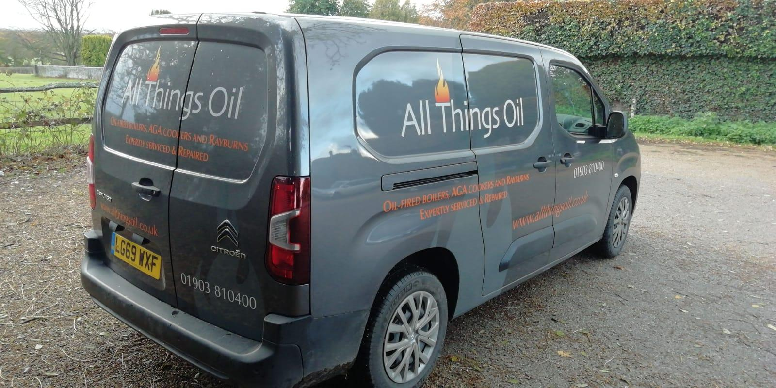 All Things Oil service van